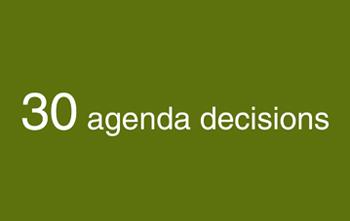 Agenda decisions